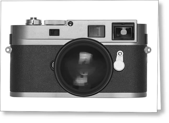 Toy Camera Greeting Cards - Rangefinder Camera Greeting Card by Setsiri Silapasuwanchai