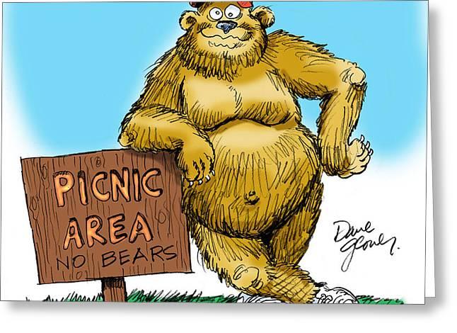 Ranger Bear Greeting Card by David Lloyd Glover