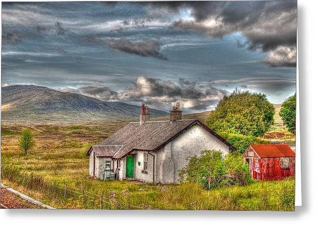 Rannoch Moor Greeting Cards - Rannoch Railway Station View Greeting Card by Chris Thaxter