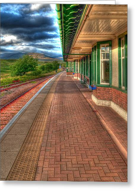Rannoch Moor Greeting Cards - Rannoch Station Platform Greeting Card by Chris Thaxter