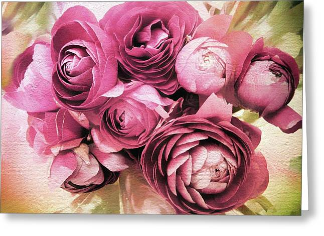 Ranunculus Bloom Greeting Card by Jessica Jenney