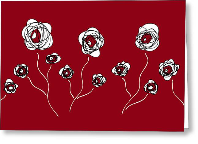 Swirly Greeting Cards - Ranunculus Greeting Card by Frank Tschakert