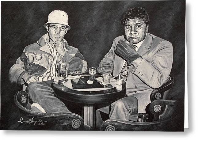 Hst Greeting Cards - Raoul and Dr. Gonzo in Las Vegas Greeting Card by Daniel Bergren
