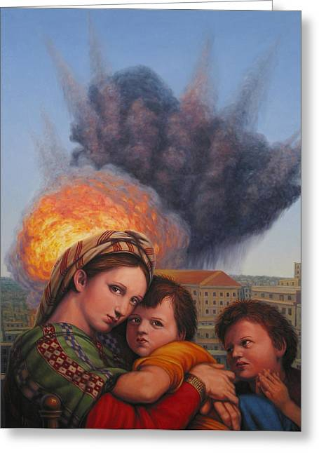 Madonna And Child Greeting Cards - Raphael Moderne Greeting Card by James W Johnson