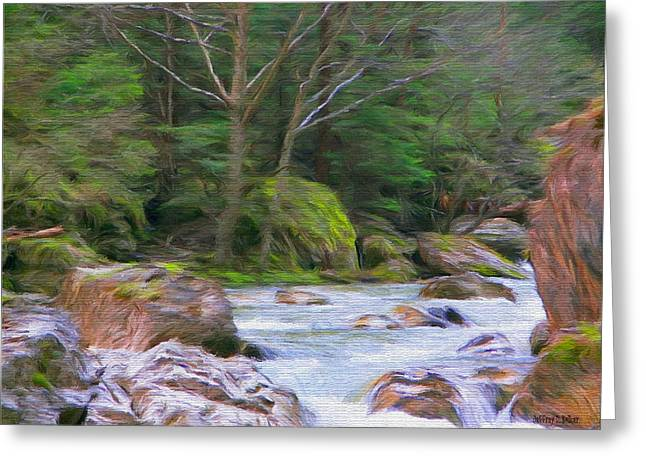 Carpathian Mountains Greeting Cards - Rapids at the Rivers Bend Greeting Card by Jeff Kolker