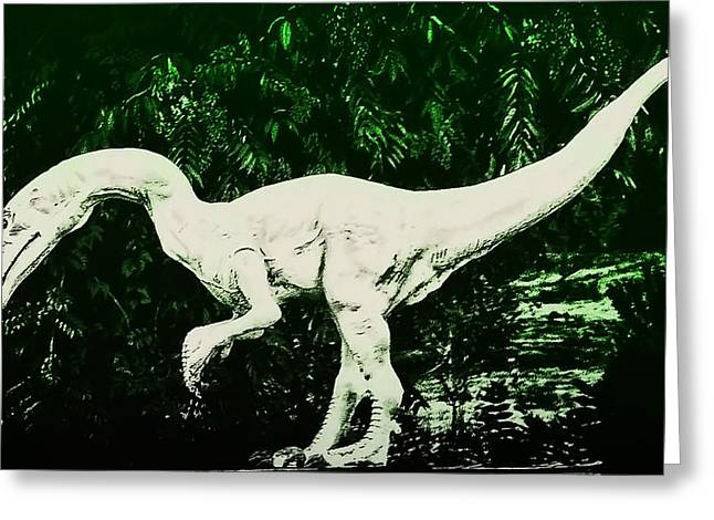 Trex Greeting Cards - Raptor Greeting Card by Bill Cannon