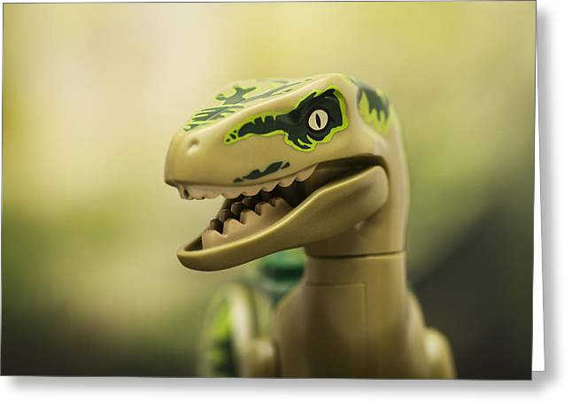 Minifig Greeting Cards - Raptor on the prowl Greeting Card by Samuel Whitton