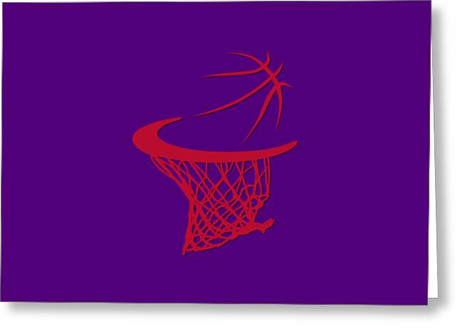 Raptors Greeting Cards - Raptors Basketball Hoop Greeting Card by Joe Hamilton