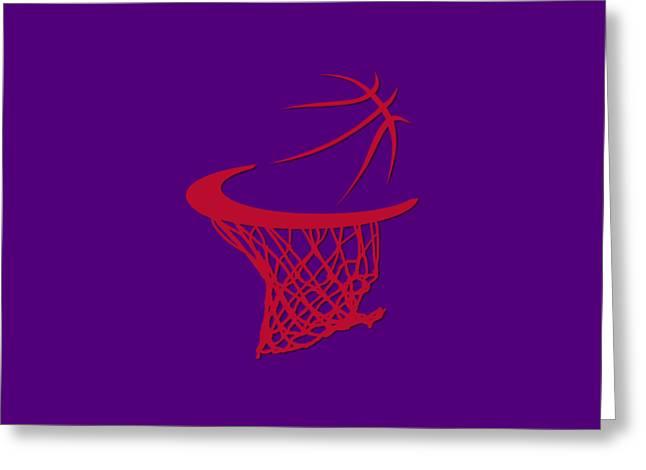 Basket Ball Greeting Cards - Raptors Basketball Hoop Greeting Card by Joe Hamilton