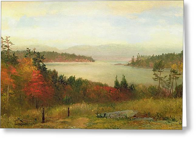 The Country School Greeting Cards - Raquette Lake Greeting Card by Homer Dodge Martin