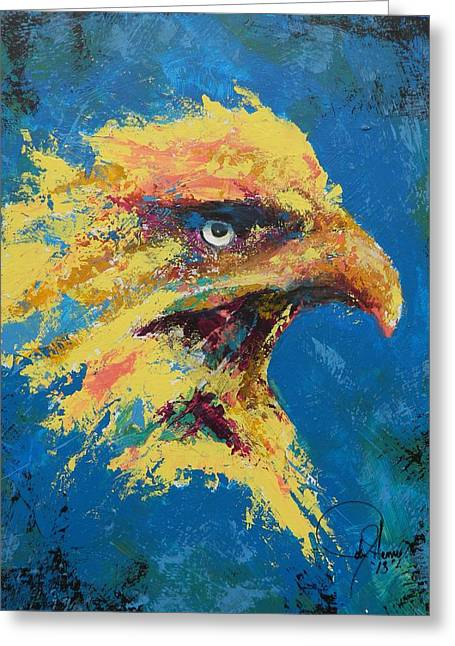 Eagle Greeting Cards - Rare Eagle Greeting Card by John Henne