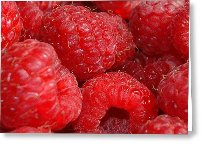 Health Food Greeting Cards - Raspberries Greeting Card by Mark Platt