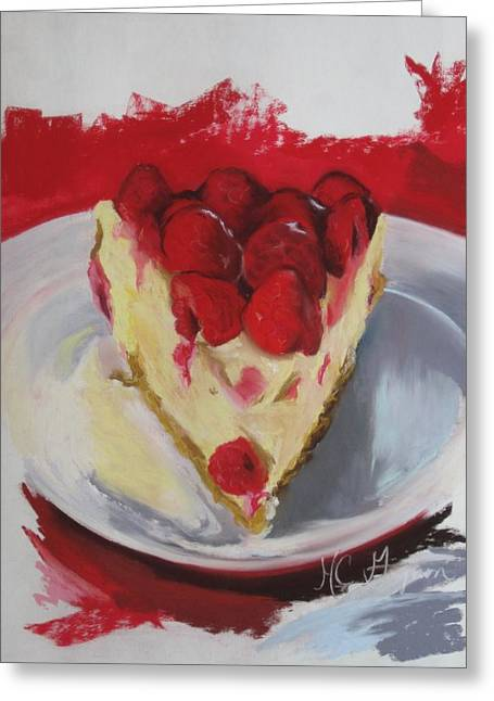 Raspberry And Cheese Greeting Card by Marie-claude Gagnon