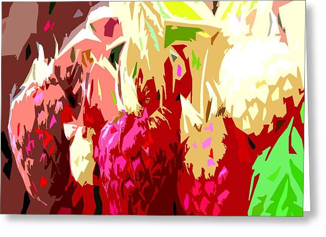 Cropped Mixed Media Greeting Cards - Raspberry Bush Greeting Card by Patrick J Murphy