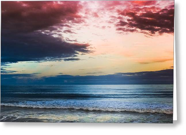 Crimson Tide Photographs Greeting Cards - Raspberry Skies Greeting Card by Karen Wiles
