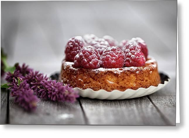 Raspberry Tarte Greeting Card by Nailia Schwarz