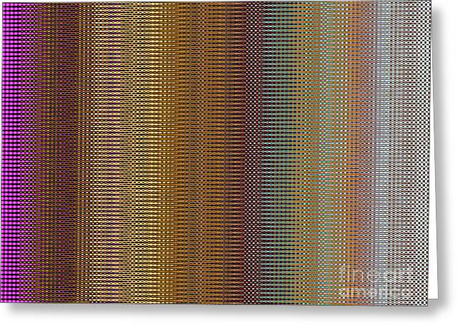 Raspberry Tonal Tapestry Greeting Card by Ann Johndro-Collins