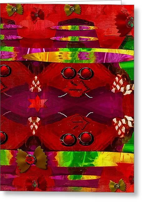 Rasta Greeting Cards - Rasta Music Greeting Card by Pepita Selles