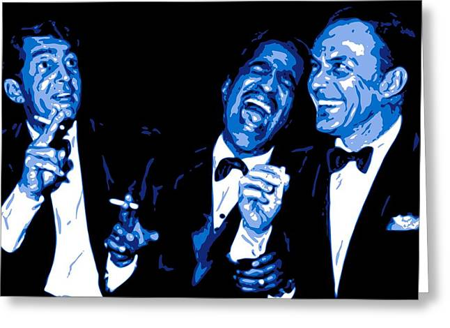 Pop Singer Greeting Cards - Rat Pack at Carnegie Hall Greeting Card by DB Artist