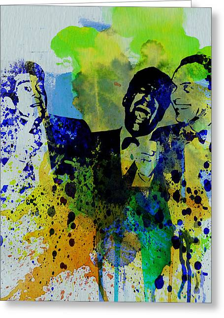 Frank Sinatra Greeting Cards - Rat Pack Greeting Card by Naxart Studio