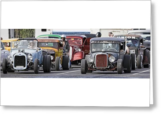Rusted Cars Greeting Cards - Rat Rods Ready to Play W6020 Greeting Card by Wes and Dotty Weber