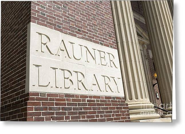 Hanover College Greeting Cards - Rauner Library Dartmouth College Greeting Card by Edward Fielding