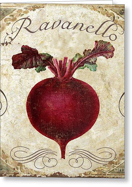 Red Radish Greeting Cards - Ravanello Radish Greeting Card by Mindy Sommers