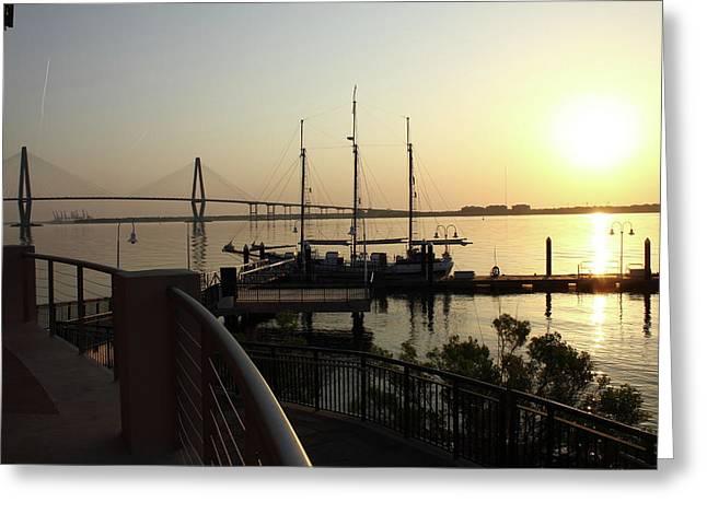 Ravenal Bridge Greeting Cards - Ravenal Bridge Sun Rise Greeting Card by Michael Dillard