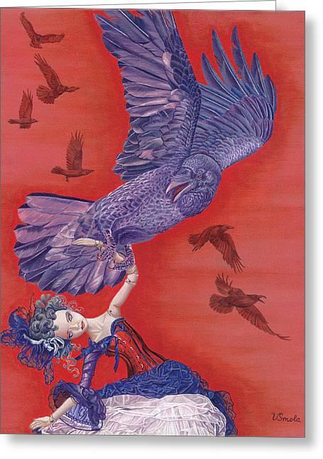 Ravenous Greeting Card by Vlasta Smola