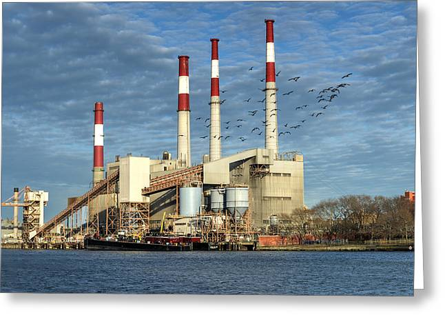 Power Plants Greeting Cards - Ravenswood Generating Station New York Greeting Card by Felix Lipov