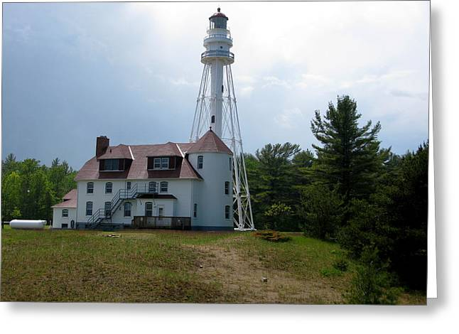 Historic Site Greeting Cards - Rawley Point Lighthouse Greeting Card by Cindy Kellogg