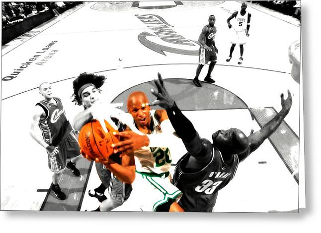 Ray Allen Greeting Card by Brian Reaves