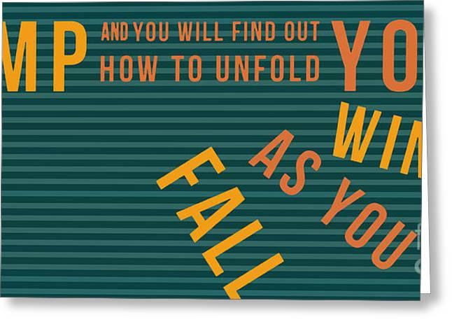 Green And Yellow Mixed Media Greeting Cards - Ray Bradbury - Fall Greeting Card by Pablo Franchi