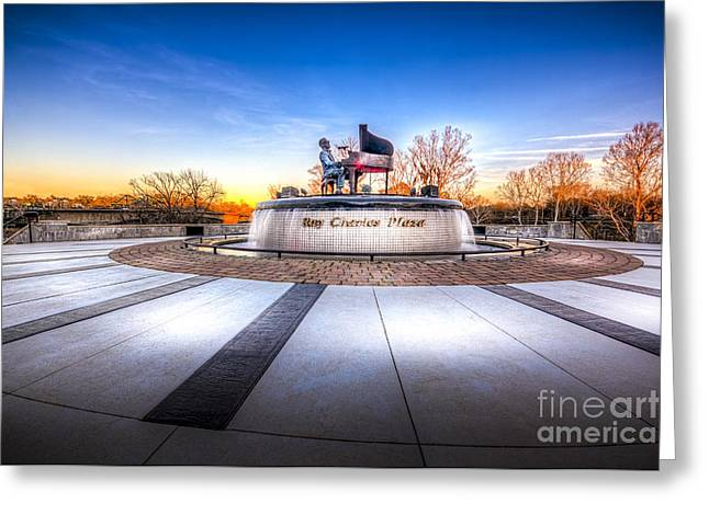 Ray Charles Plaza Greeting Card by Marvin Spates
