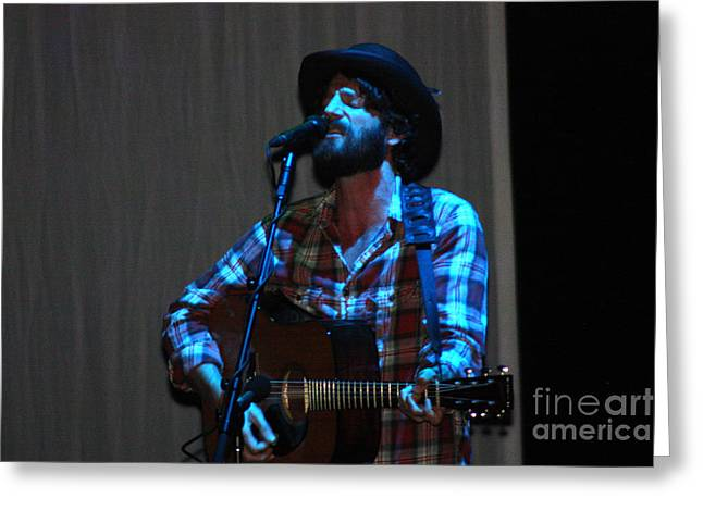 Live Art Greeting Cards - Ray LaMontagne-8903 Greeting Card by Gary Gingrich Galleries