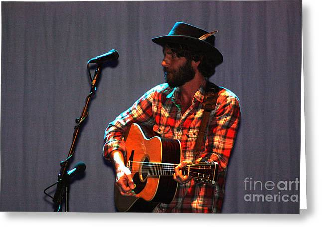 Live Art Greeting Cards - Ray LaMontagne-8937 Greeting Card by Gary Gingrich Galleries