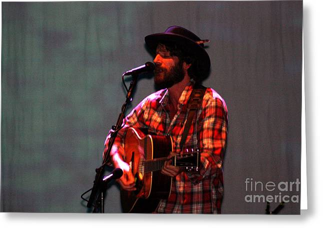 Live Art Greeting Cards - Ray LaMontagne-9124 Greeting Card by Gary Gingrich Galleries