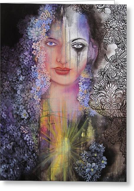 Print On Canvas Greeting Cards - Ray of Light Greeting Card by Tamarah Phillips