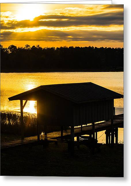 Rays Over The Resting Place Greeting Card by Parker Cunningham