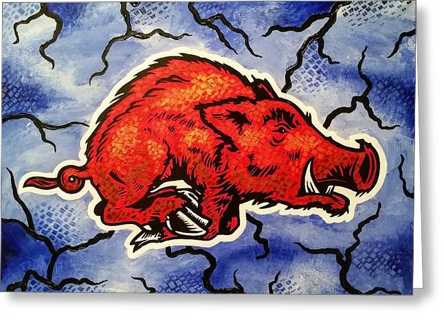 Razorback Foundations Greeting Card by Russten Johnson