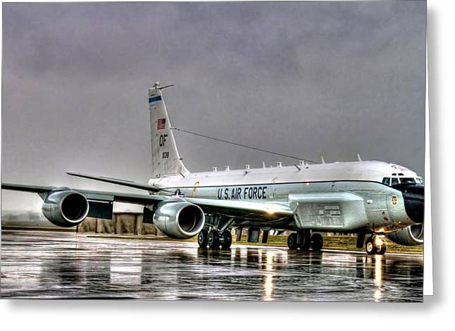 Rc-135 Rivet Joint Greeting Card by Ryan Wyckoff