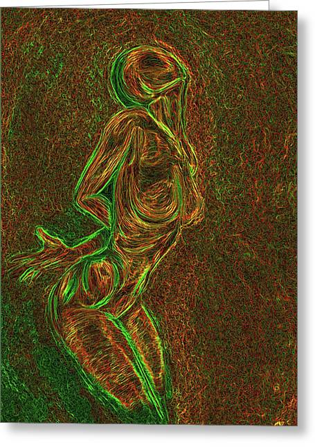 Pose Greeting Cards - Reach Greeting Card by Aiden Galvin