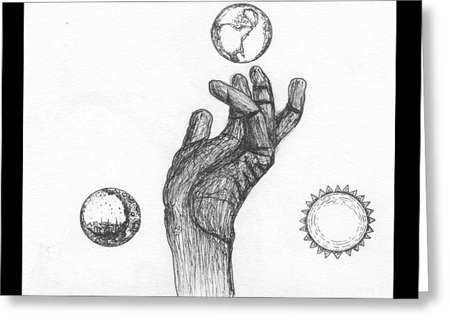 Reach Drawings Greeting Cards - Reach For Everything Greeting Card by Michael Miller