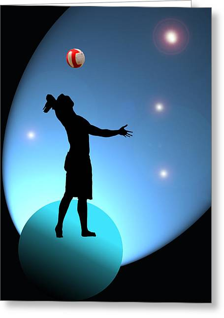 Volley Greeting Cards - Reach for the Stars Greeting Card by Barbara  White