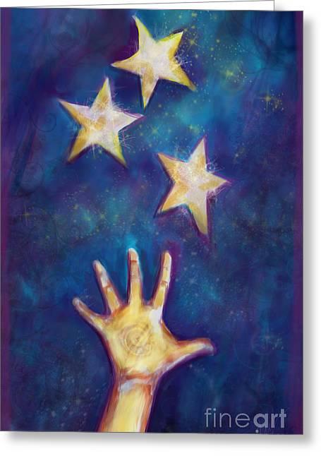Wonderment Greeting Cards - Reach Greeting Card by Julianne Black
