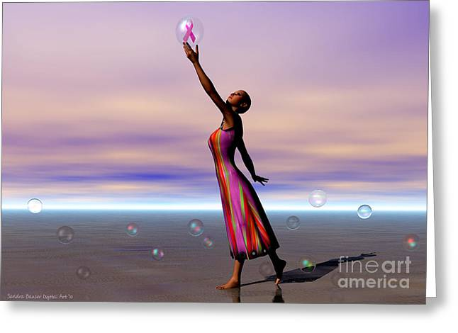 Reaching For A Cure Greeting Card by Sandra Bauser Digital Art