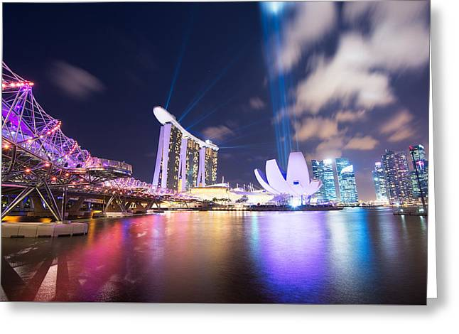 Helix Greeting Cards - Reaching for the Stars Singapore Greeting Card by Andre Distel