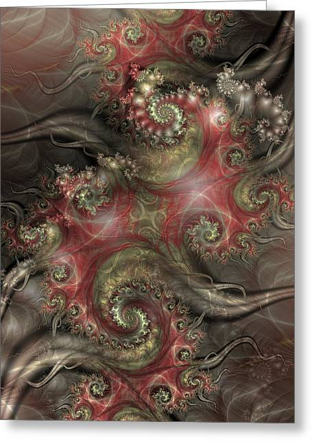 Fractal Greeting Cards - Reaching Out Greeting Card by David April