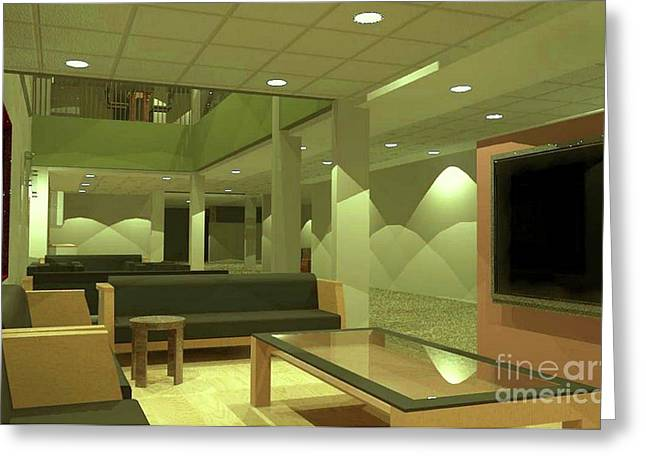 Lounge Digital Greeting Cards - Reading Area Greeting Card by Ron Bissett