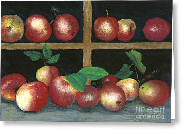 Produce Pastels Greeting Cards - Ready for Cider Greeting Card by Ginny Neece